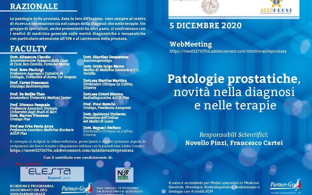 Il 5 Dicembre si terrà il primo Convegno dell'Associazione AssoPROST