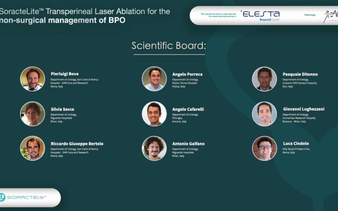 SoracteLite Transperineal Laser Ablation for the management of BPO – Registrazione integrale dell'evento